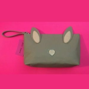 NWT BUNNY RABBIT KITSCH COSMETIC BAG